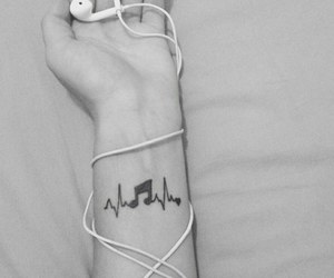 music, aesthetic, and b&w image