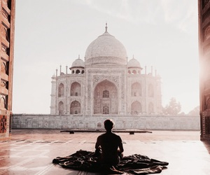travel, taj mahal, and photography image