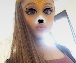 ariana grande, snapchat, and moonlightbae image