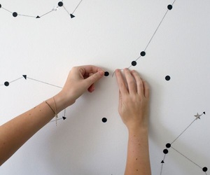 bedroom, constellation, and diy image