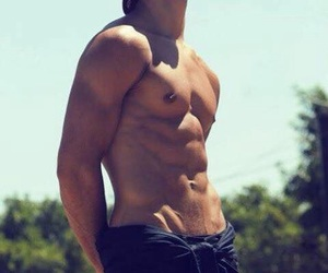 boys, fit, and six pack image