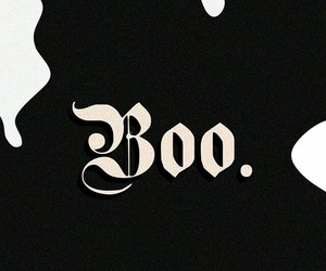 black, ghost, and boo image