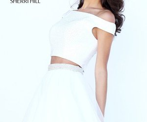 beaded tulle dress, homecoming dress 2016, and sherri hill 50497 image