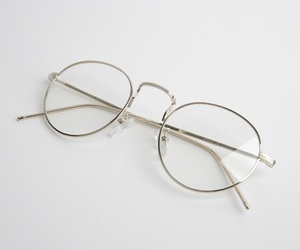 glasses, aesthetic, and white image