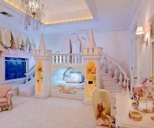 bedroom, room, and princess image