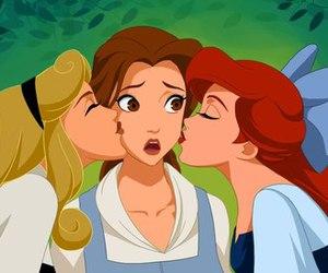 disney, princess, and kiss image