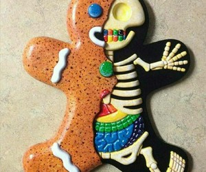 cookie, Halloween, and skeleton image