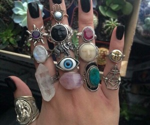 rings, nails, and grunge image
