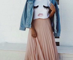 beautiful, outfit, and skirt image