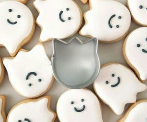 ghost, Halloween, and Cookies image