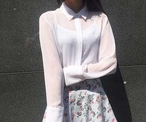 asian fashion, blouse, and chiffon image