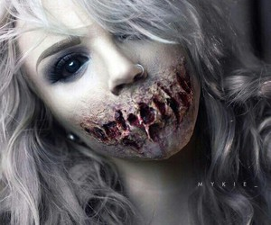 Halloween, makeup, and glam and gore image