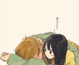 couple, anime, and blush image