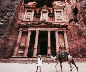 travel, jordan, and petra image
