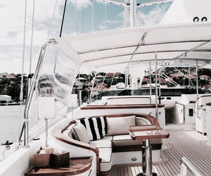 boat, summer, and luxury image