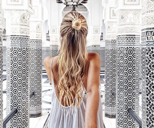 hair, travel, and beauty image