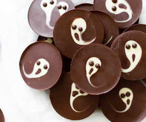 ghost, chocolate, and food image