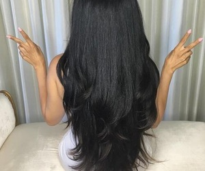 black hairs, classy, and fashion image