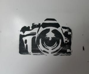 camera and graffiti image