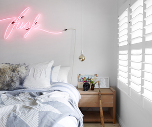 pink, decor, and neon image