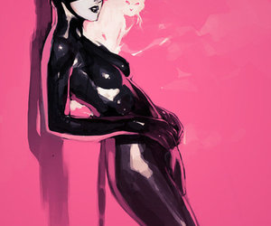 cat, catwoman, and pink image