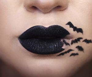bat, Halloween, and lipstick image