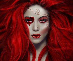 redhead queen of hearts image