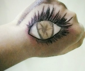 eye, first try, and makeup image