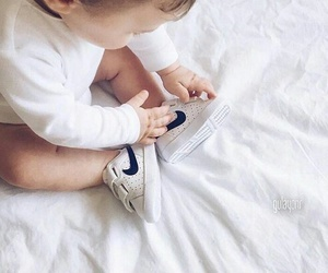 baby, cute, and nike image
