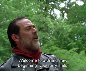 the walking dead, book, and negan image