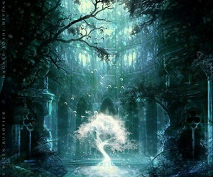 tree, fantasy, and art image