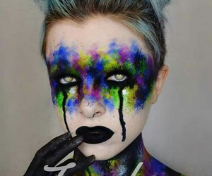 black lips, colorfull, and Halloween image