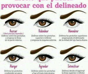 beauty, liner, and eyes image