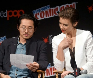 andrew lincoln, lauren cohan, and twd image