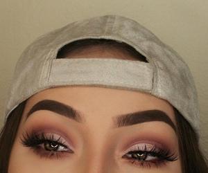 brow, makeup, and eye image
