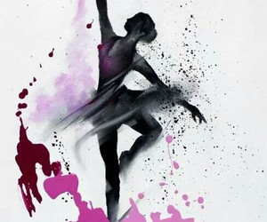 art, ballet, and drawing image