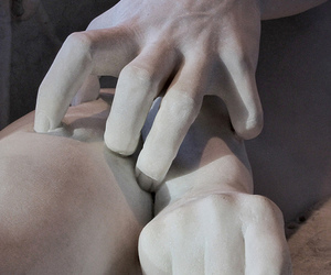 art, hands, and sculpture image