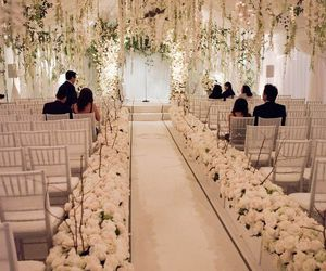 wedding, white, and flowers image