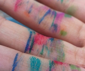 colors, school, and fingers image