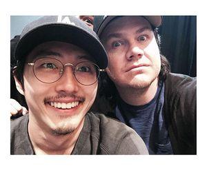the walking dead, steven yeun, and josh mcdermitt image