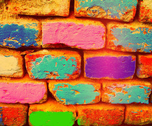 color, colorful, and wall image