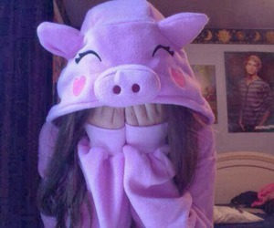 pig, pink, and love image