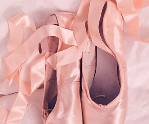pink, ballet, and shoes image