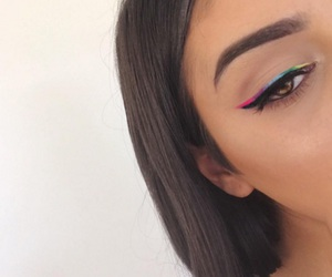 colorful, eyeliner, and bestmakeups image