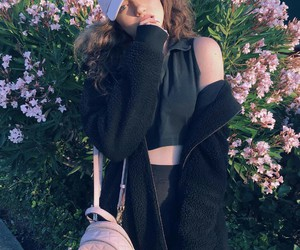 flowers, dytto, and black image