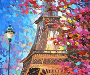 art, paris, and painting image