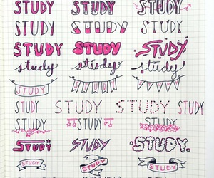 school, study, and font image