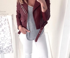 leather jacket and red image