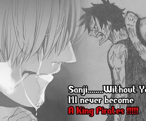 anime, cry, and one piece image