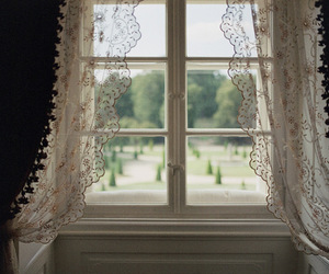 window, view, and curtains image